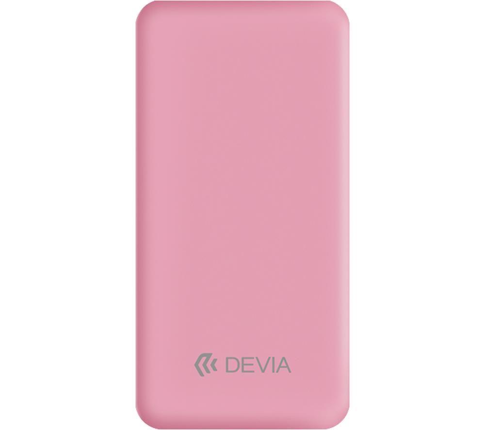 Image of DEVIA DEV-SMARTV3-POW10-PNK Portable Power Bank - Pink, Pink