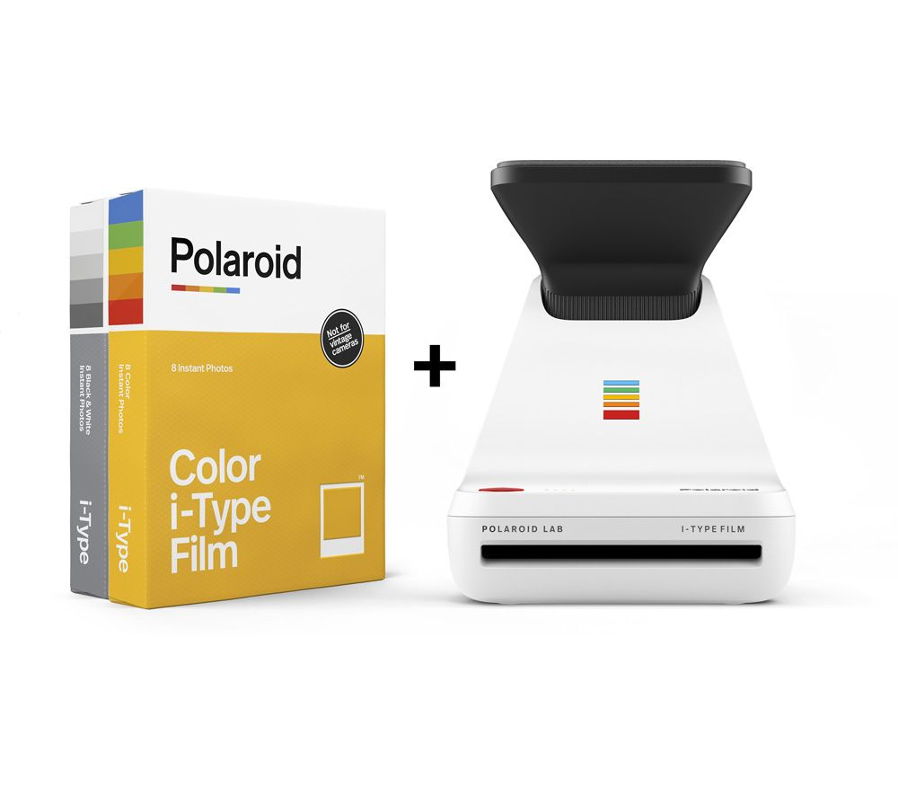POLAROID Lab with Film Twin Pack - White