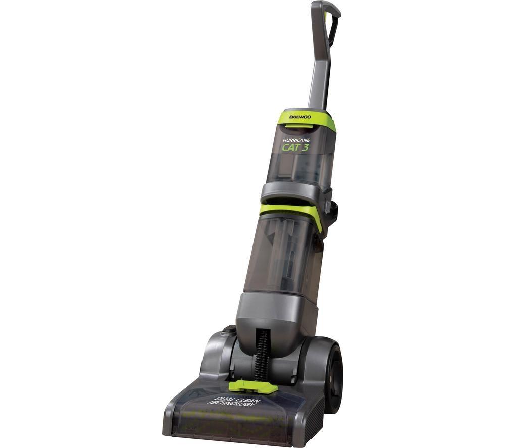 DAEWOO Hurricane Cat 3 Upright Carpet Cleaner - Grey & Green