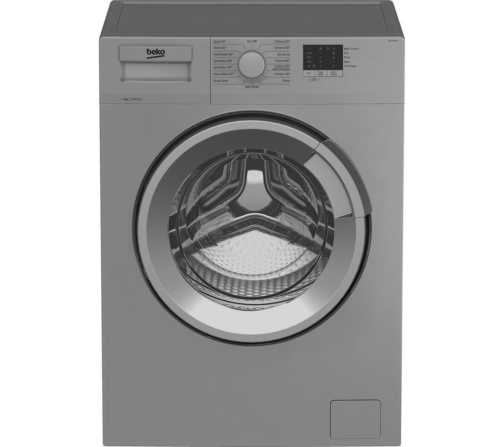 BEKO WTL74051S 7 kg 1400 Spin Washing Machine - Silver, Silver