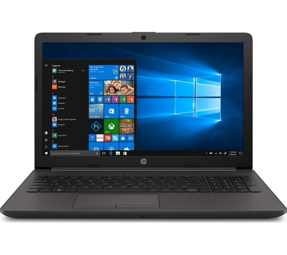 "hp pavilion 250 15.6"" laptop - intel®core™ i7, 256 gb ssd, dark silver, silver"