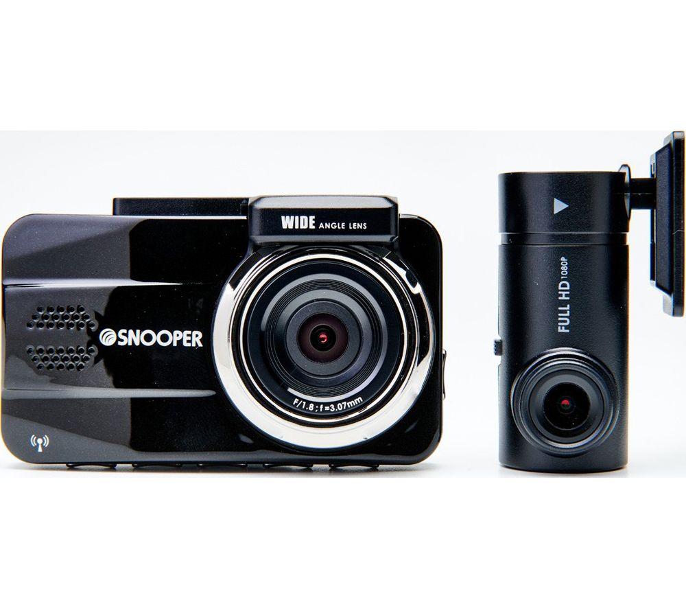 SNOOPER DVR-5HD G3 Full HD Dash Cam & Rear View Cam Bundle - Black, Black
