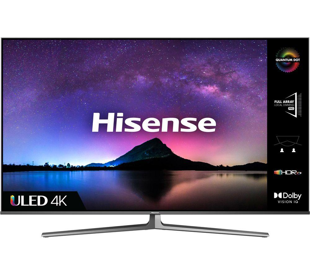 "HISENSE 55U8GQTUK 55"" Smart 4K Ultra HD HDR QLED TV with Alexa & Google Assistant"