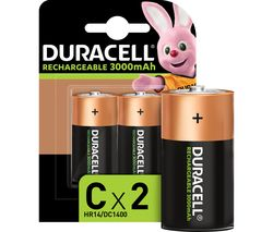 DURACELL LR14/MN1400 Accu C Rechargeable NiMH Batteries - Pack of 2