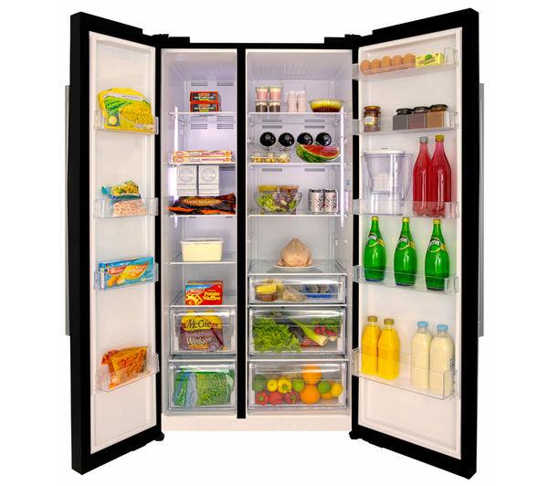 What Is An American Fridge Freezer Part - 26: BEKO ASL141B American-Style Fridge Freezer - Black