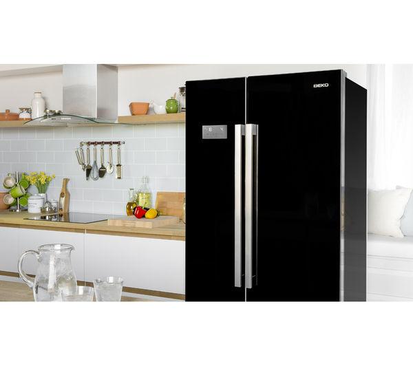 Buy BEKO ASL141B American-Style Fridge Freezer