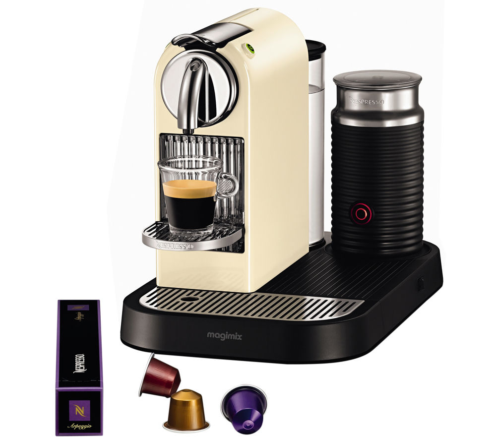 11301 Nespresso CitiZ & Milk Coffee Machine - Cream