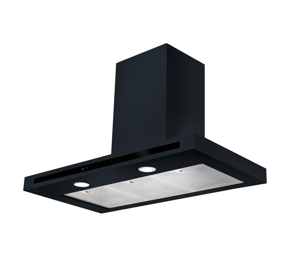 RANGEMASTER Hi-LITE 90 Chimney Cooker Hood - Black