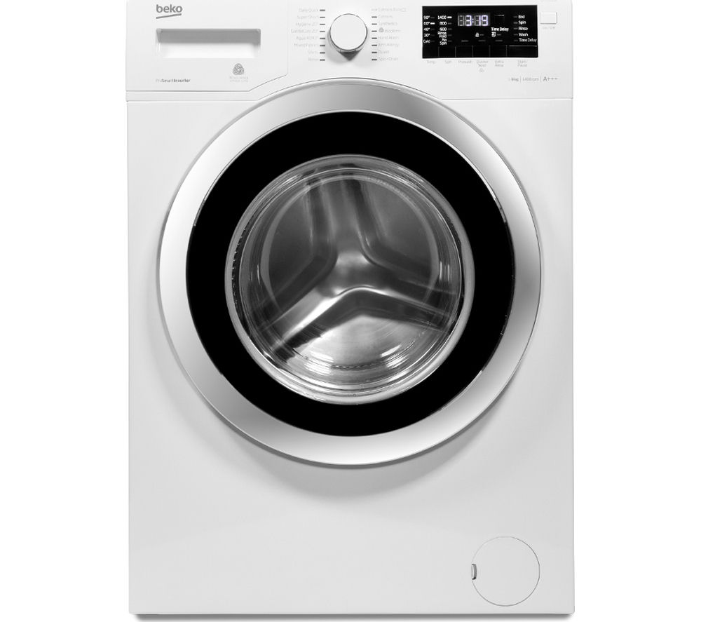 BEKO Select WX943440W Washing Machine - White + Select DSX83410W Heat Pump Tumble Dryer - White