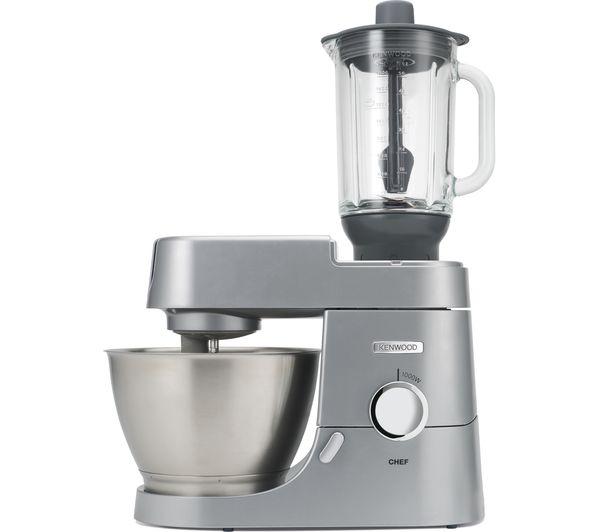 kenwood kitchen machine kah358gl glass blender attachment chef premier kvc3100w stand mixer white - Kennwood Kitchen
