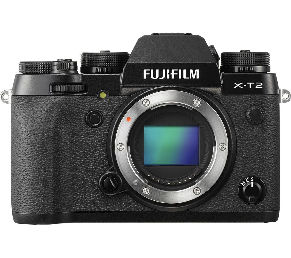 FUJIFILM X-T2 Compact System Camera - Black, Body Only, Black