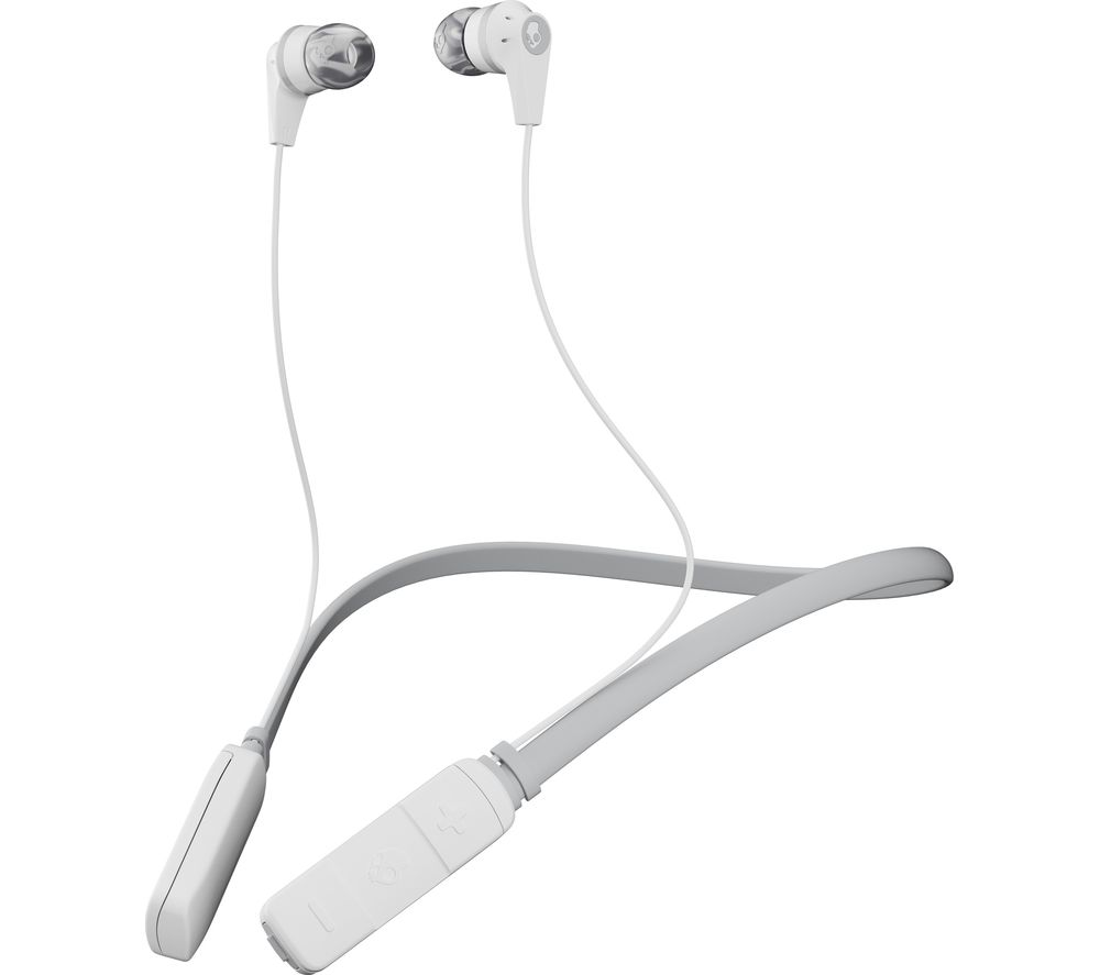SKULLCANDY Ink'd Wireless Bluetooth Headphones - White & Grey