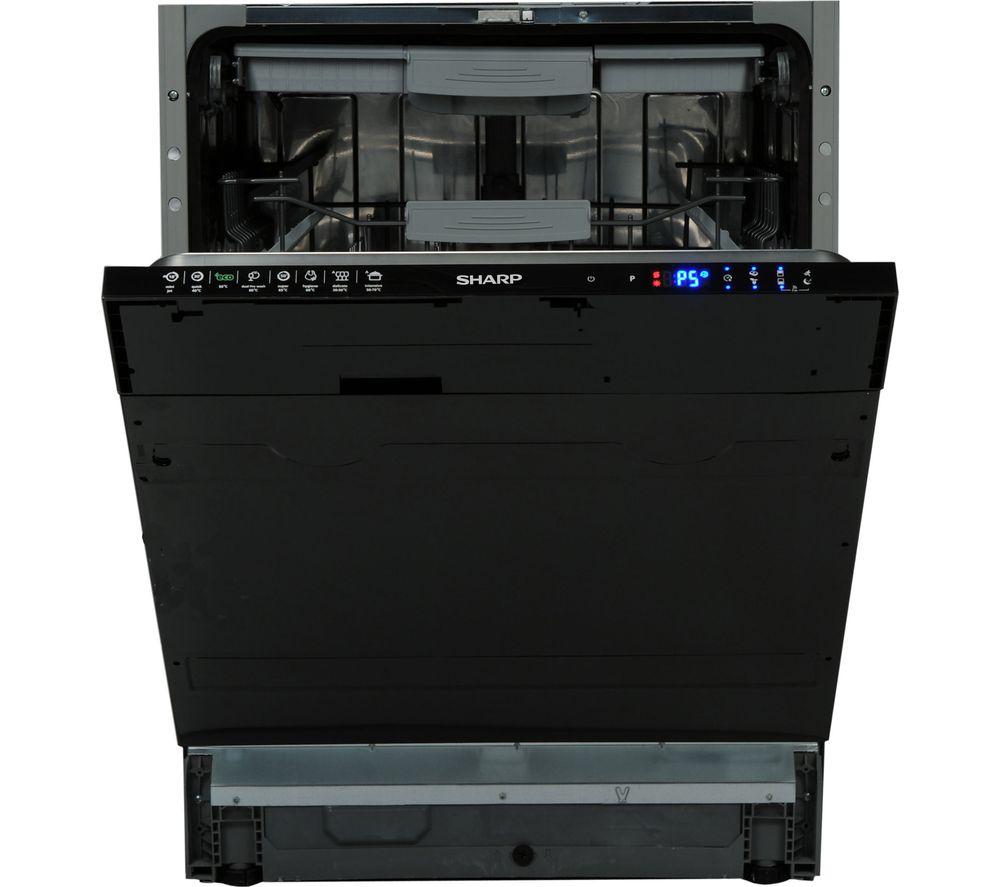 Image of SHARP QW-GD53I443X Full-size Integrated Dishwasher