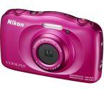 NIKON COOLPIX W100 Tough Compact Camera - Pink