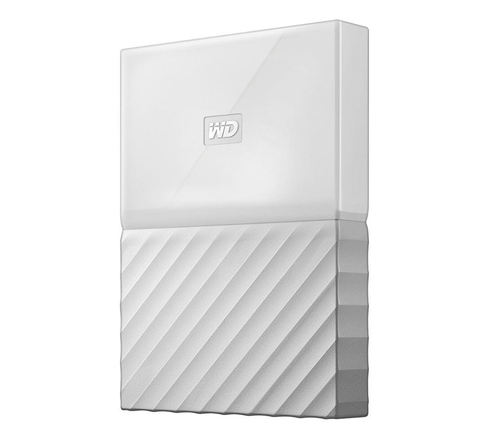 WD My Passport Portable Hard Drive - 2 TB, White