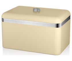 SWAN Retro Bread Bin - Cream