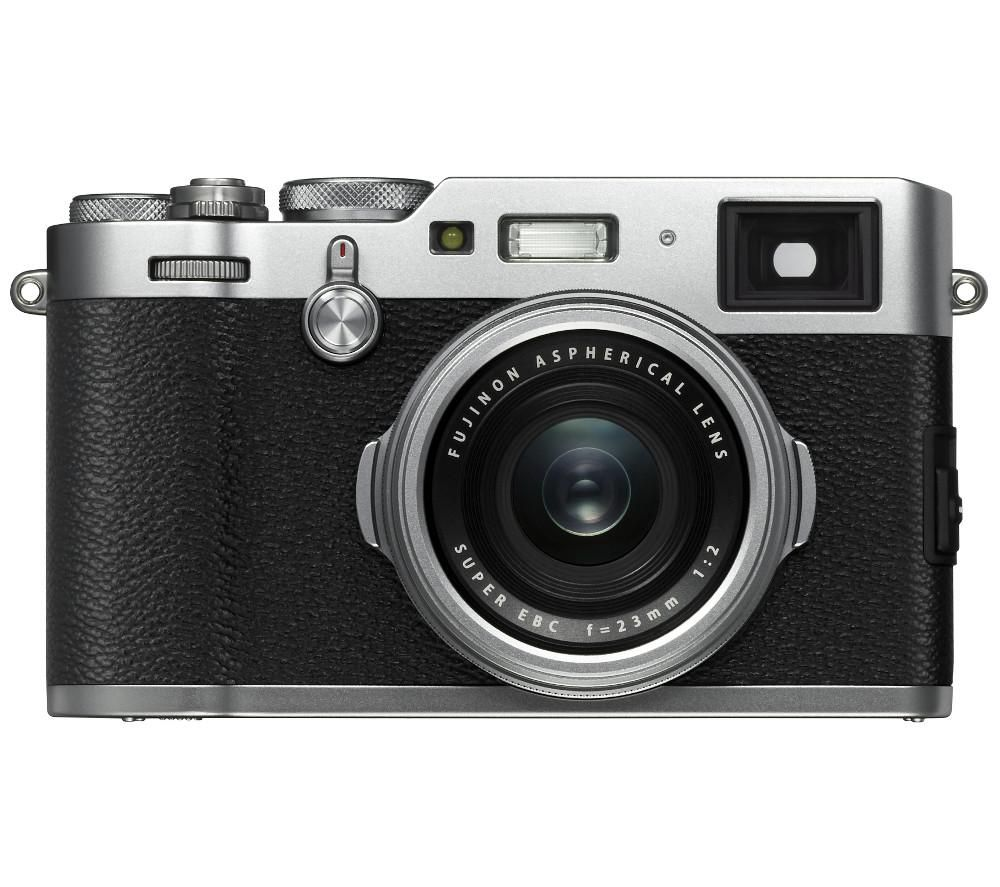 FUJIFILM X100F High Performance Compact Camera - Silver + Extreme Plus Class 10 SDXC Memory Card - 64 GB