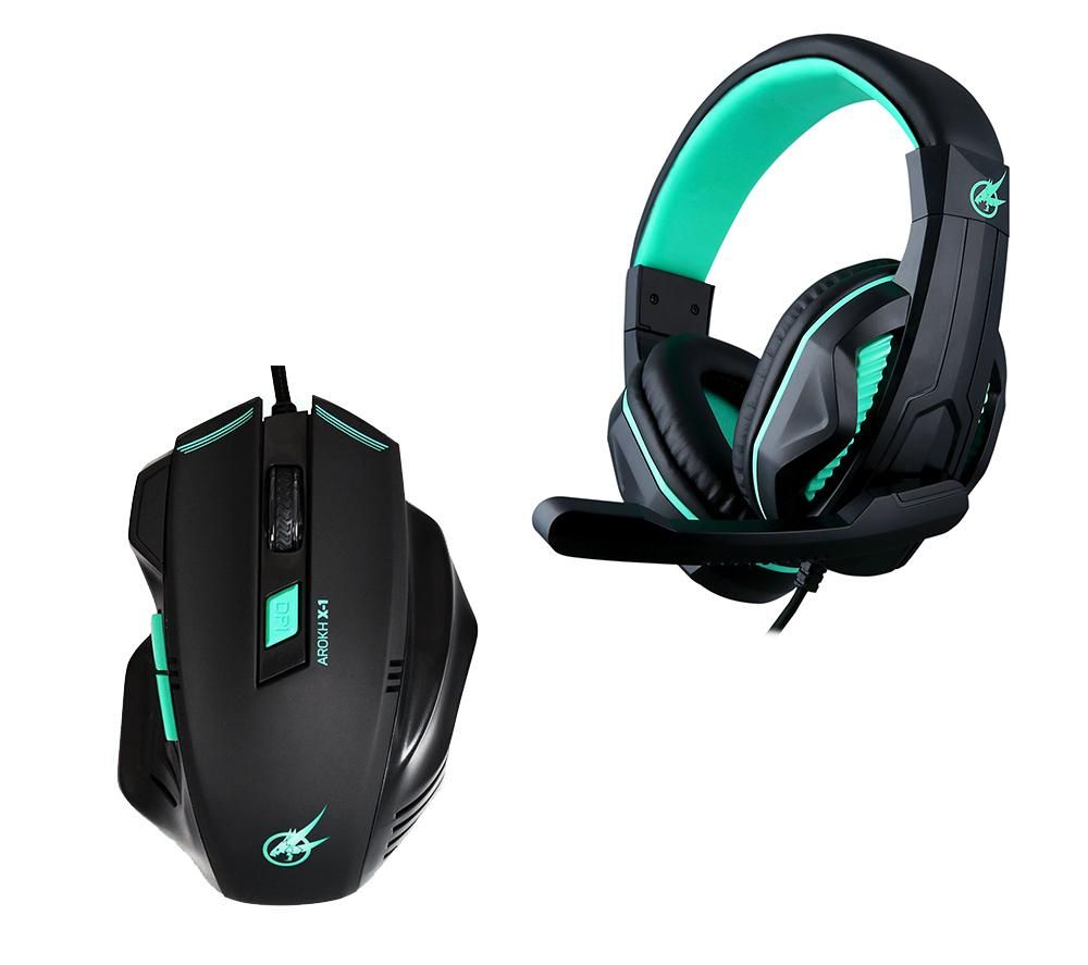 PORT DESIGNS Arokh H-1 Headset & X-1 Optical Mouse Gaming Pack