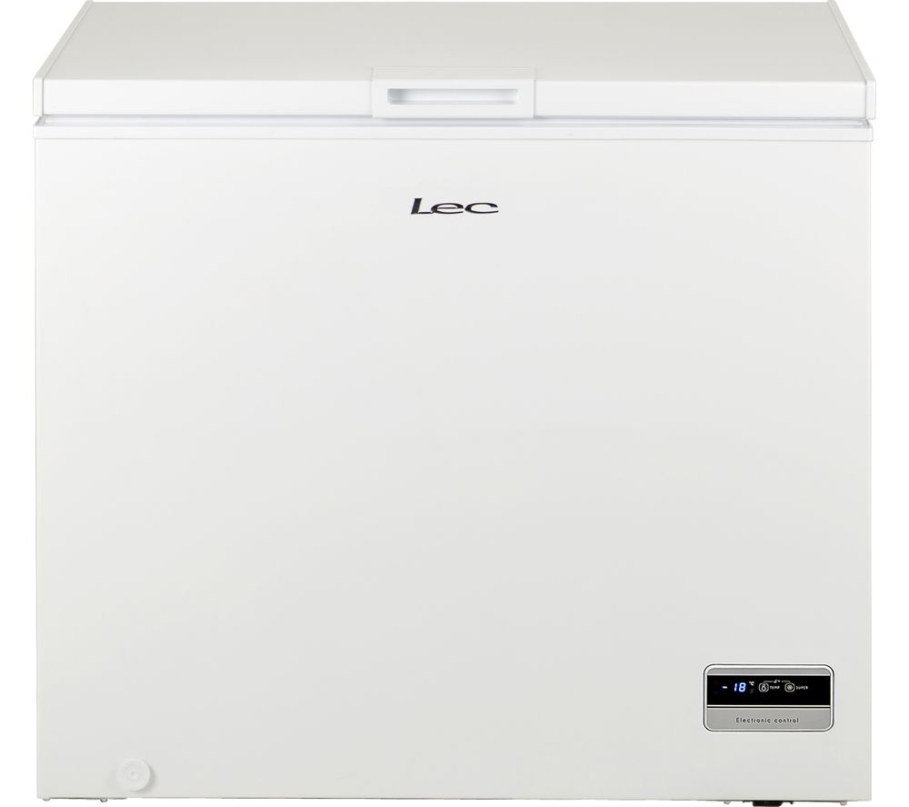 LEC CF200L Chest Freezer - White, White