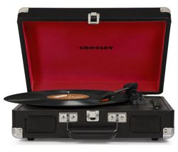 CROSLEY Cruiser Deluxe Belt Drive Bluetooth Turntable - Black
