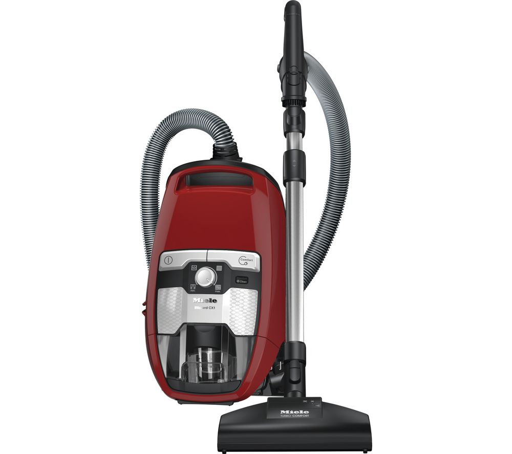 MIELE Blizzard CX1 Cat & Dog Cylinder Bagless Vacuum Cleaner - Autumn Red, Red