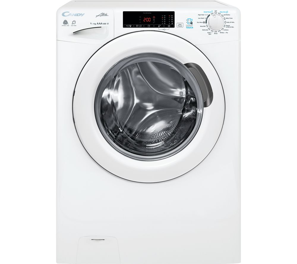 CANDY GCSW 496T NFC 9 kg Washer Dryer - White
