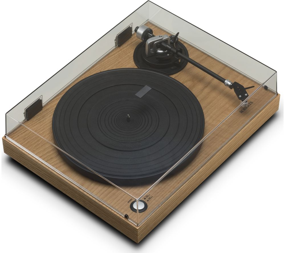 ROBERTS RT100 Belt Drive Turntable - Natural Wood