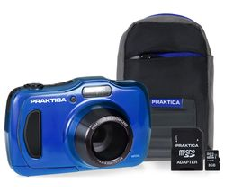 PRAKTICA Luxmedia WP240 Compact Camera & Accessories Bundle - Blue