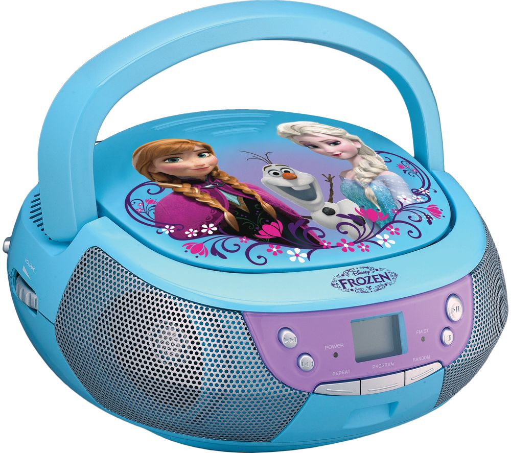 FROZEN Boombox with Microphone - Blue, Blue