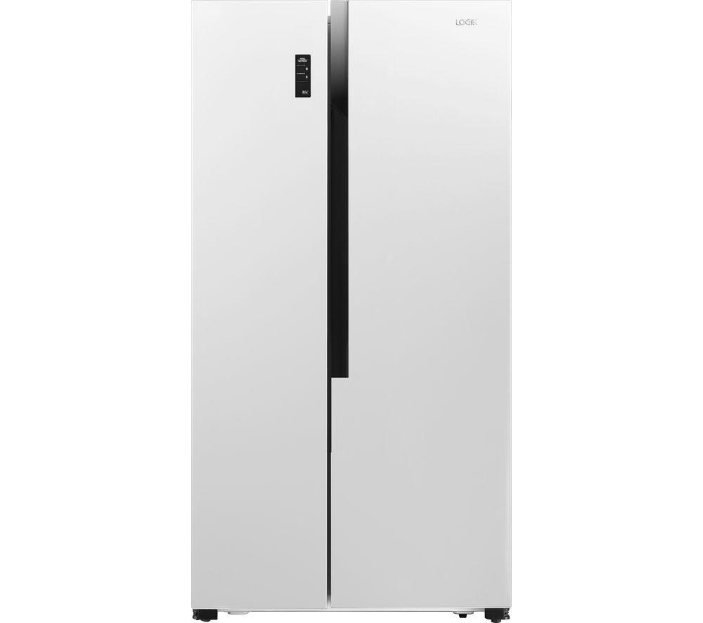 LOGIK American-Style Fridge Freezer White LSBSW18, White