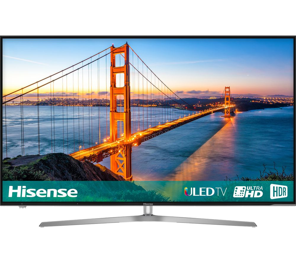 "HISENSE H55U7AUK 55"" Smart 4K Ultra HD HDR LED TV + S1HDM315 HDMI Cable with Ethernet - 1 m"