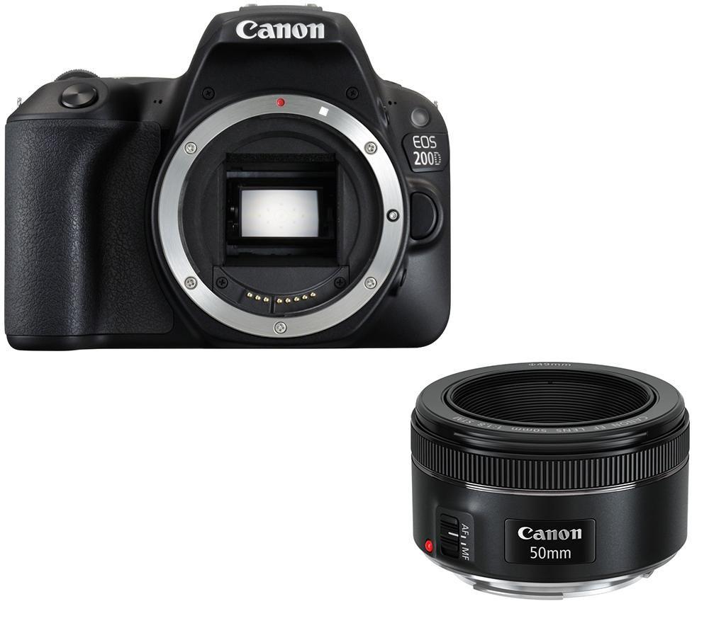 CANON EOS 200D DSLR Camera & EF 50 mm f/1.8 STM Standard Prime Lens Bundle