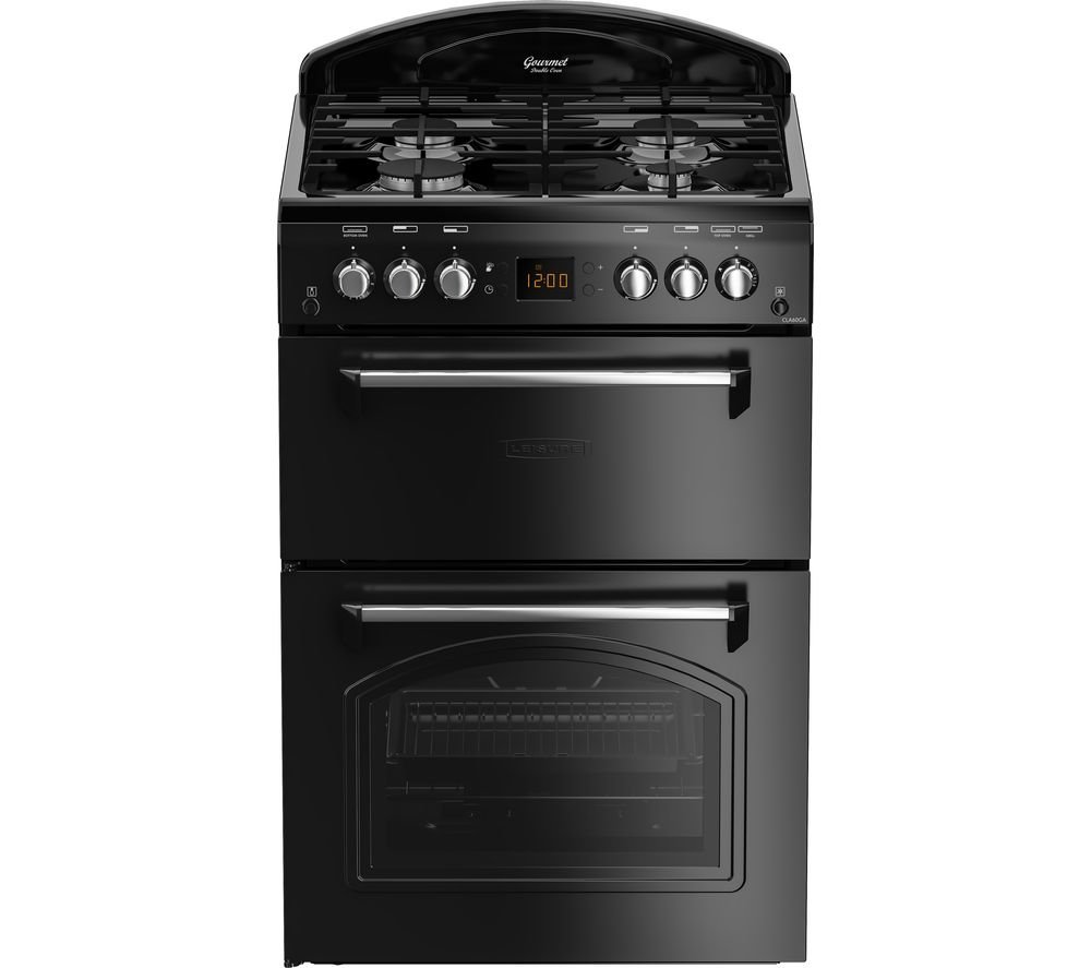 LEISURE CLA60GAK 60 cm Gas Cooker - Black, Black