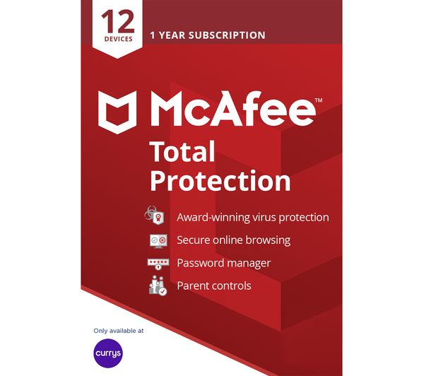 Image of MCAFEE Total Protection - 1 year for 12 devices