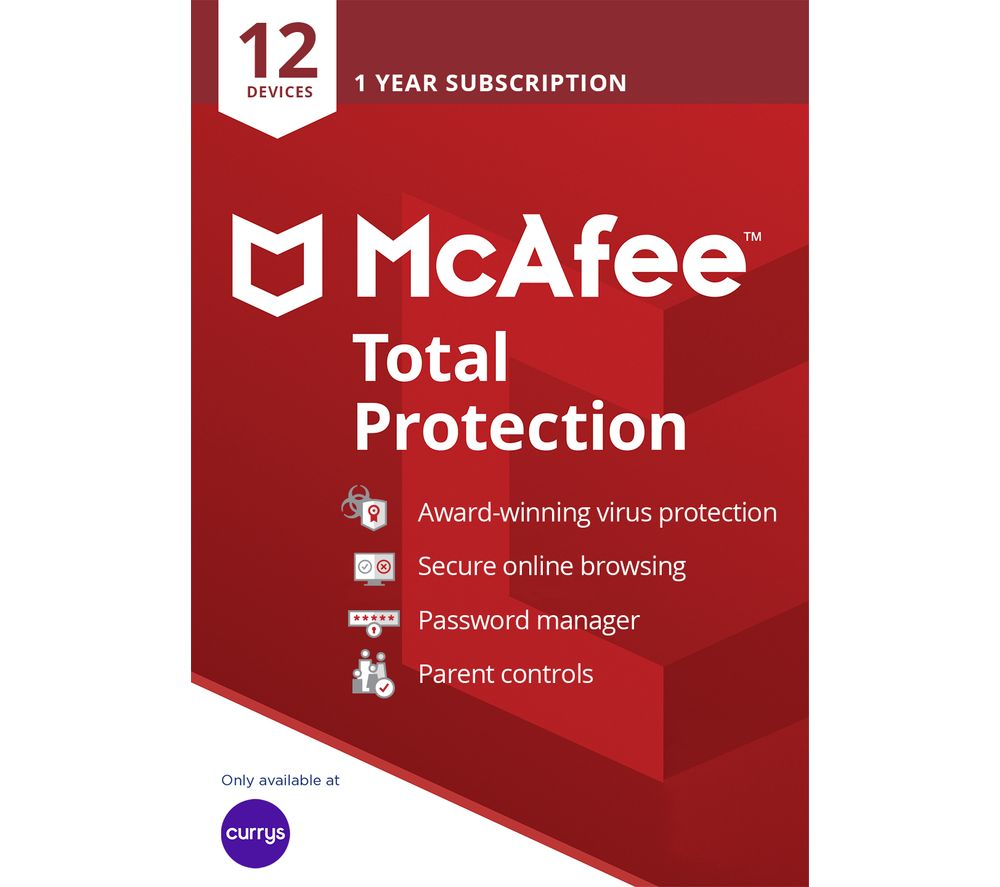 MCAFEE Total Protection 2019 - 1 year for 12 devices