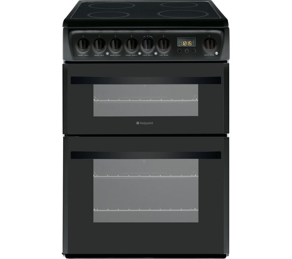 HOTPOINT DCN60K.1 60 cm Electric Ceramic Cooker - Black