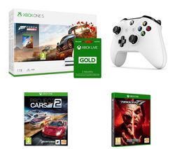 MICROSOFT Xbox One S, Forza Horizon 4, Apex Legends, Project Cars 2, Tekken 7, Wireless Controller & 3 Months LIVE Gold Bundle