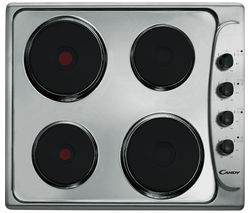 CANDY CLE64X Electric Solid Plate Hob - Stainless Steel