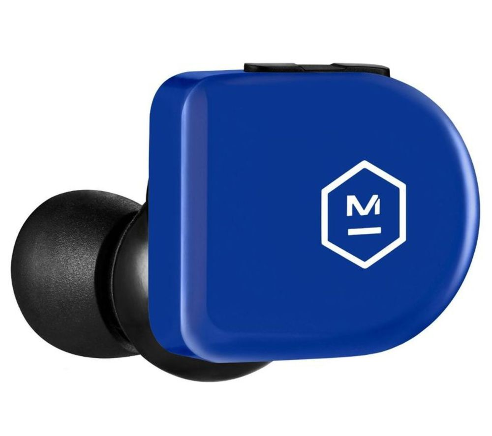 Image of MASTER DYNAMIC MW07 GO Wireless Bluetooth Sports Earphones - Electric Blue, Blue