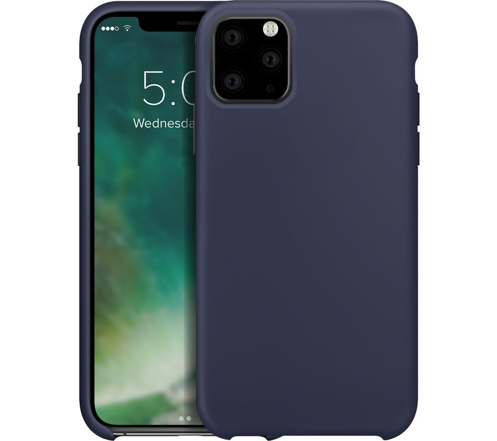 XQISIT iPhone 11 Pro Max Silicone Case - Midnight Blue, Blue