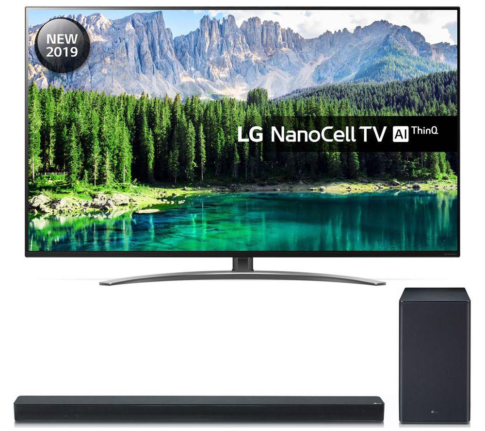 """55"""" LG 55SM8600PLA Smart 4K Ultra HD LED TV & SK8 2.1 Wireless Soundbar Bundle"""