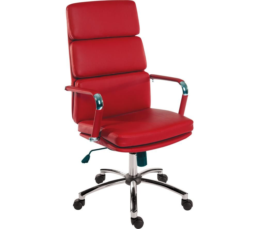 TEKNIK Deco 1097RD Faux-Leather Tilting Executive Chair - Red