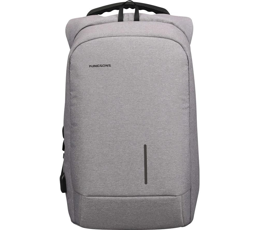 "Image of KINGSONS KS3149W-LG 15.6"" Laptop Backpack - Light Grey, Grey"