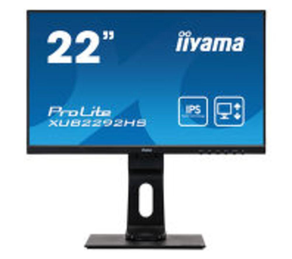 "IIYAMA ProLite XUB2292HS-B1 Full HD 22"" IPS LCD Monitor - Black"