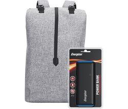 EPB004 Backpack with Power Bank - Grey