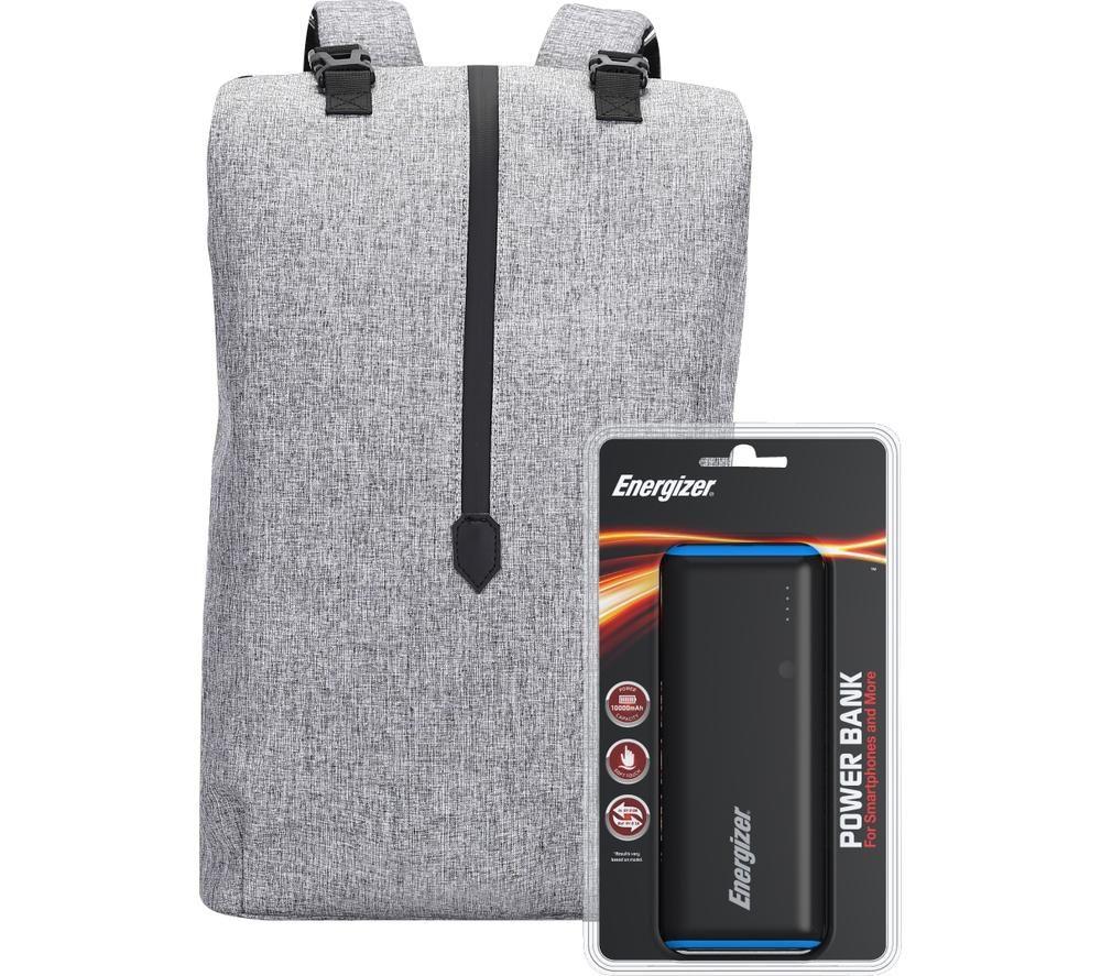 Image of ENERGIZER EPB004 Backpack with Power Bank - Grey, Grey