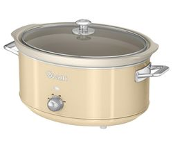 SWAN Retro SF17031CN Slow Cooker - Cream Best Price, Cheapest Prices