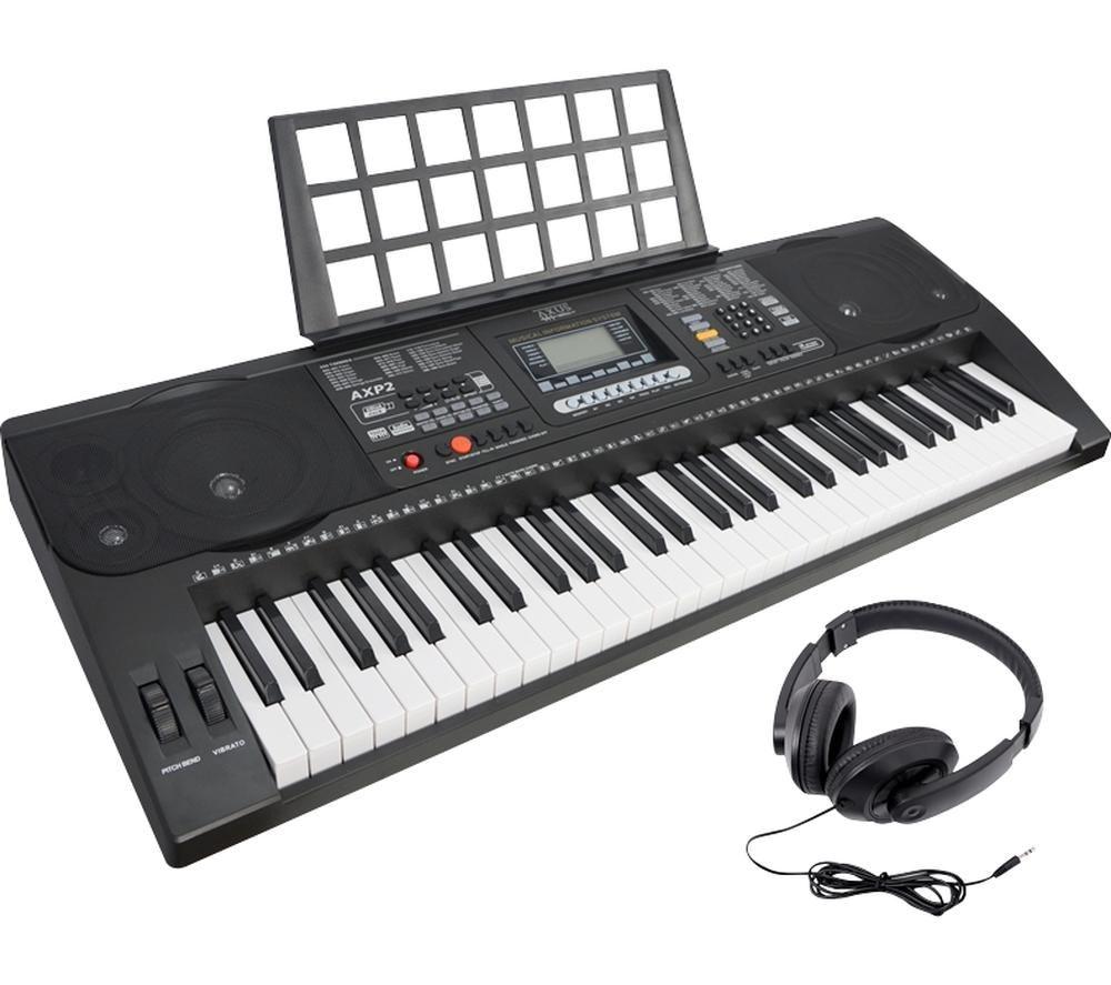 AXUS AXP2 Electronic Keyboard - Black