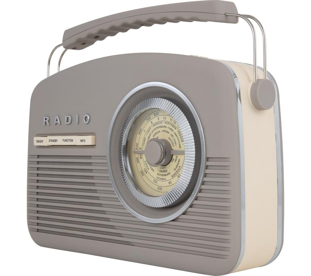 Image of AKAI Vintage A60010VDABT Portable DABﱓ Radio - Taupe, Taupe