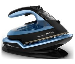 TEFAL Freemove Air FV6551 Cordless Steam Iron - Black & Blue Best Price, Cheapest Prices